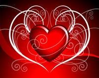 Vector hearth illustration Stock Image