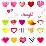 Vector hearts Royalty Free Stock Photography