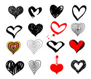 Vector hearts Royalty Free Stock Image