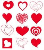 Vector hearts Stock Photo
