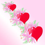 Vector hearts. Beautiful tree in the shape of a heart Stock Images