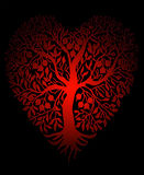 Vector hearts. Beautiful tree in the shape of a heart Stock Photo