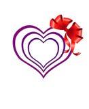 Vector hearts. Royalty Free Stock Photo