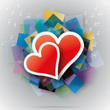 Vector hearts Stock Image