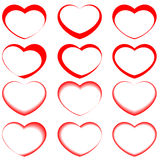 Vector hearts Royalty Free Stock Photography