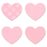 Vector hearts. Vector hearts from Valentines day card eps 10 Stock Photos