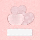 Vector hearts. Vector hearts from Valentines day card eps 10 Royalty Free Stock Photo