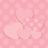 Vector hearts. Royalty Free Stock Photos