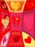 Vector hearts Stock Photography