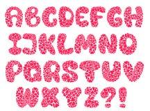 Vector hearts alphabet Stock Image