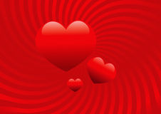 Vector hearts background Royalty Free Stock Photo