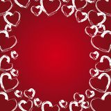 Vector hearts background Royalty Free Stock Images