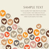 Vector hearts background Stock Photos
