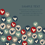 Vector hearts background Stock Image