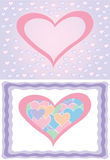 Vector hearts backgrounds. A couple of pastel colored heart backgrounds Stock Illustration