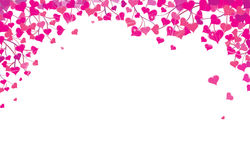 Vector  hearts border for Valentines day design. Royalty Free Stock Image
