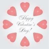 Vector hearts  card Royalty Free Stock Photo