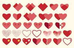 Vector hearts collection Stock Photos