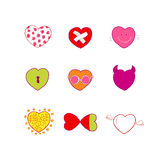 Vector hearts emotions and quotes vector illustration
