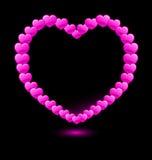 Vector hearts forming heart shape Royalty Free Stock Photos