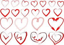 Vector hearts Stock Photography