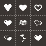 Vector hearts icon set Stock Image