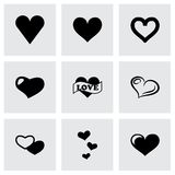 Vector hearts icon set Stock Images