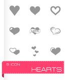 Vector hearts icon set Royalty Free Stock Photography