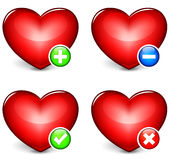 Vector hearts icons Royalty Free Stock Images