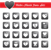 Vector hearts icons Stock Images