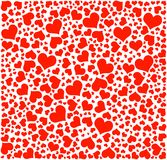 Vector, hearts pattern Stock Photography