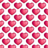 Vector hearts seamless pattern. Love simple Stock Images