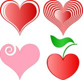 Vector hearts set Royalty Free Stock Photo