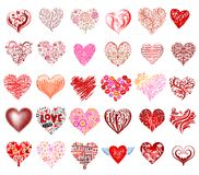 Vector hearts Stock Images
