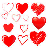 Vector hearts set Stock Photography