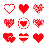 Vector hearts set Royalty Free Stock Images