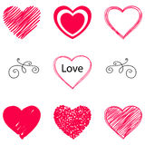 vector hearts set Royalty Free Stock Photo