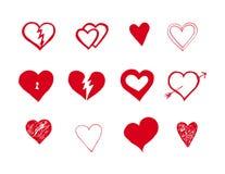 Vector hearts set Stock Photos