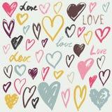 Vector hearts set. Hand drawn Royalty Free Stock Image