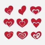 Vector hearts set, heart for love Stock Photo
