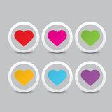Vector hearts set. heart sign collection Royalty Free Stock Photos