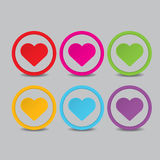 Vector hearts set. heart sign collection Stock Photography