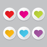 Vector hearts set. heart sign collection Royalty Free Stock Photo