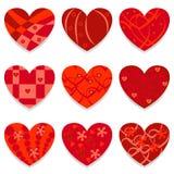 Vector hearts set Stock Photography