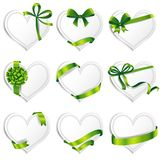 Vector hearts set for wedding and valentine design Stock Photos