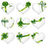Vector hearts set for wedding and valentine design Royalty Free Stock Photos
