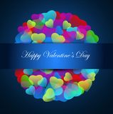 Vector of hearts Valentines day. Valentines day abstract. Royalty Free Stock Image