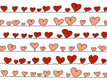 Vector hearts on white Royalty Free Stock Photo