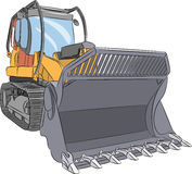 Vector. Heavy bulldozer. Stock Image