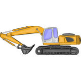 Vector heavy excavator Stock Image
